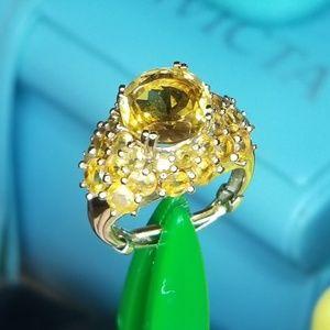 10KT GOLD CITRINE RING